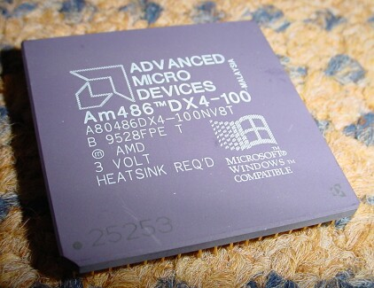 Picture of CPU AMD 486DX4 100 MHz