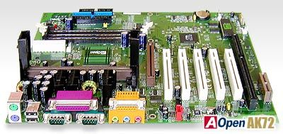 Picture of AOpen AK72 Slot A Mainboard KX133 Retail