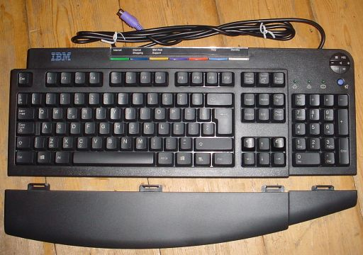 Picture of IBM RapidAccess Keyboard Zwart PS/2