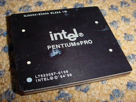 Picture of CPU Intel Pentium PRO 200, 1024 KB Cache