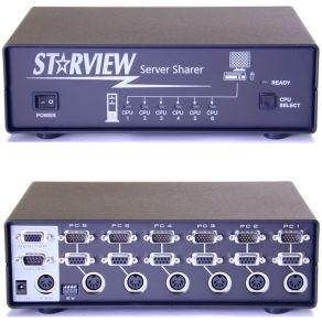 Picture of StarTech StarView SV621 KVM Switch 6 poorts
